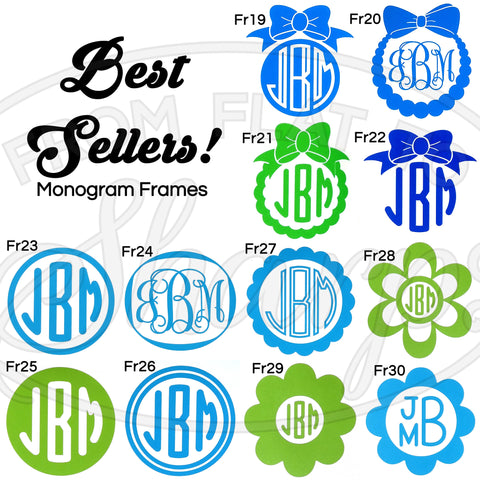 Monogram Frames - Best Sellers