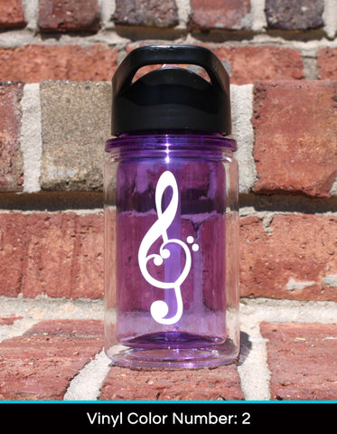 Kid's Water Bottle - Music Decal