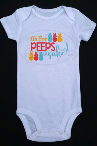 12 Month - Oh For Peeps Sake! One Piece Baby Body Suit