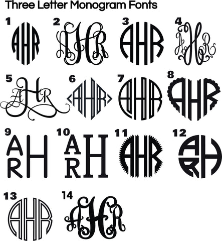 Single Monogram Decal