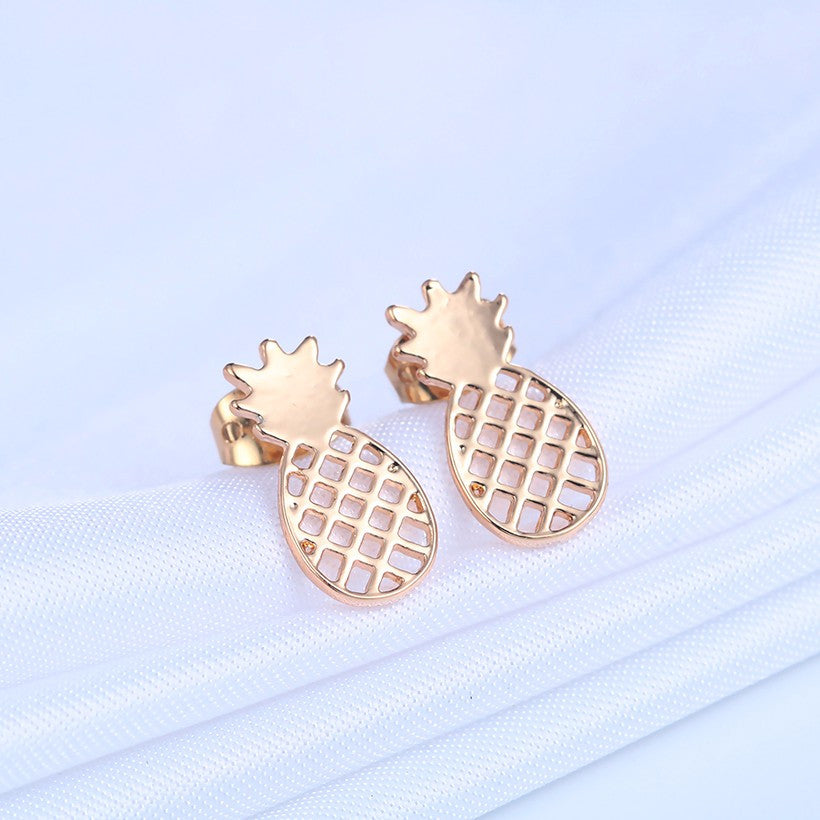 18K Gold Plated/Silver Plated Pineapple Stud Earrings - Thick 'N' Curvy Shop - 3