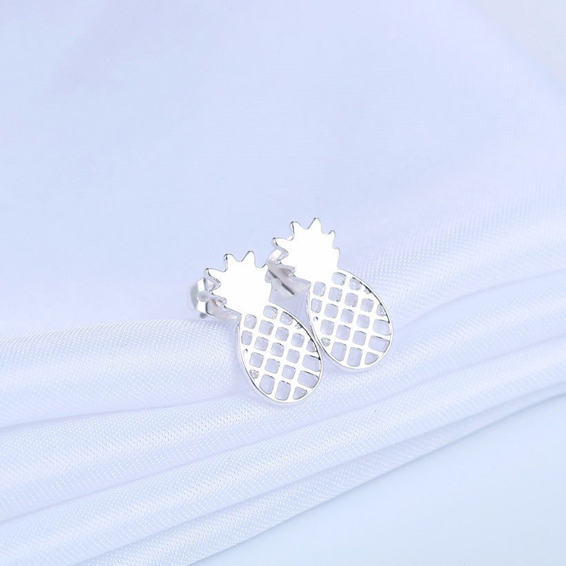 18K Gold Plated/Silver Plated Pineapple Stud Earrings - Thick 'N' Curvy Shop - 4