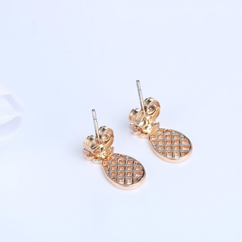 18K Gold Plated/Silver Plated Pineapple Stud Earrings - Thick 'N' Curvy Shop - 5