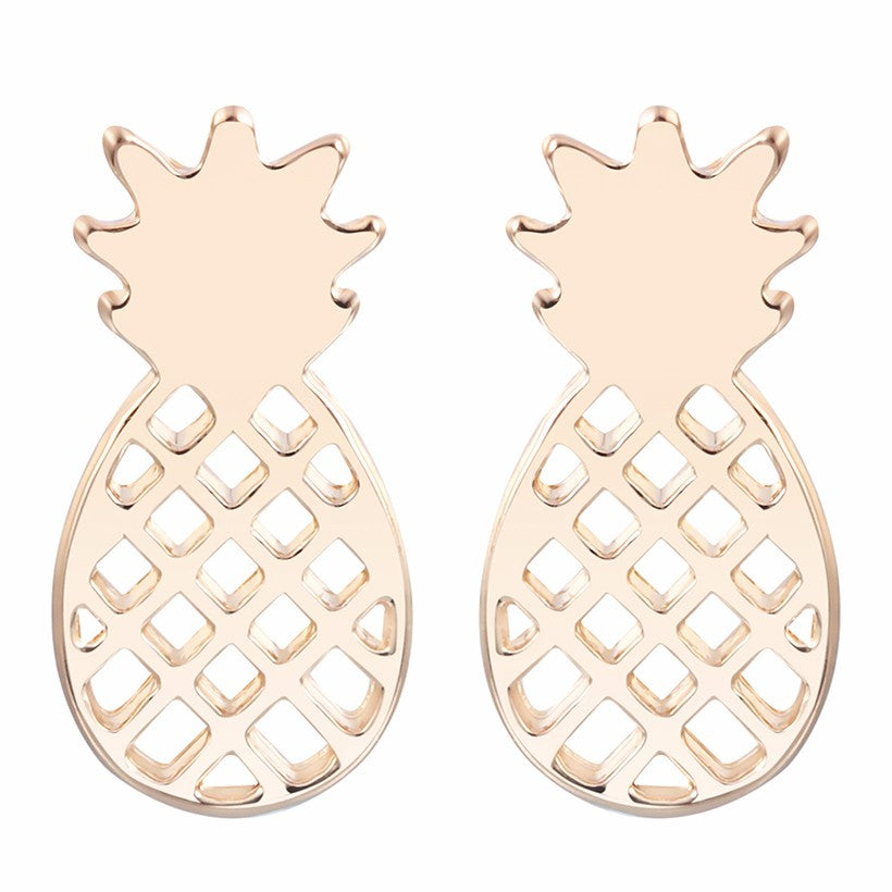18K Gold Plated/Silver Plated Pineapple Stud Earrings - Thick 'N' Curvy Shop - 1