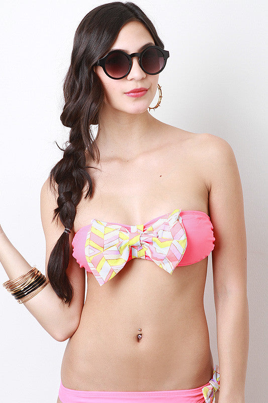 Frontal Direction Bikini Top - Thick 'N' Curvy Shop - 1