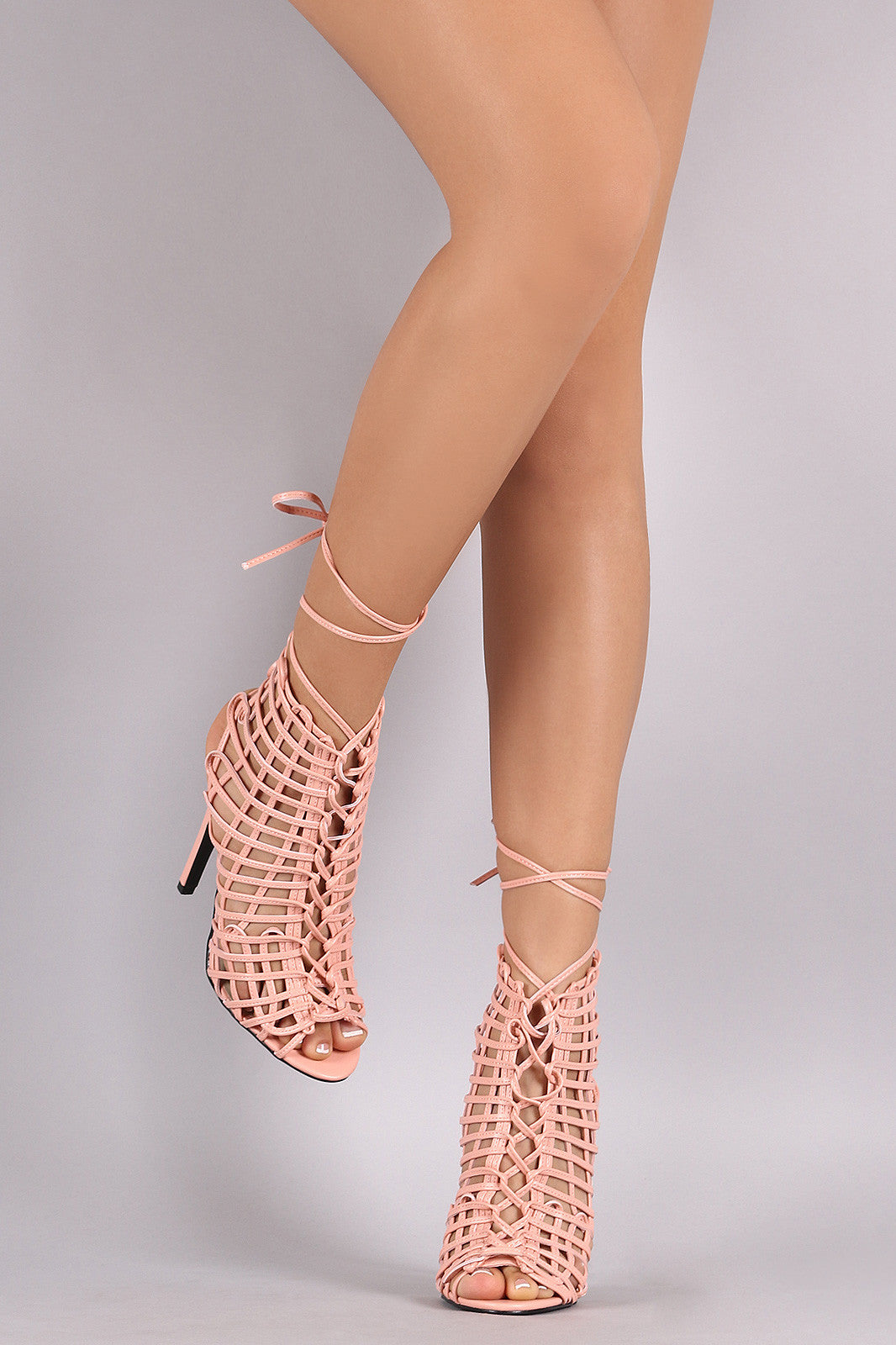 Privileged Webbed Laces Mule Heel - Thick 'N' Curvy Shop - 2