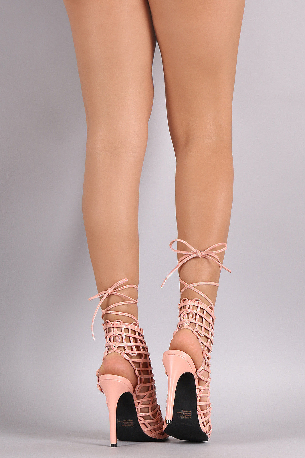 Privileged Webbed Laces Mule Heel - Thick 'N' Curvy Shop - 3