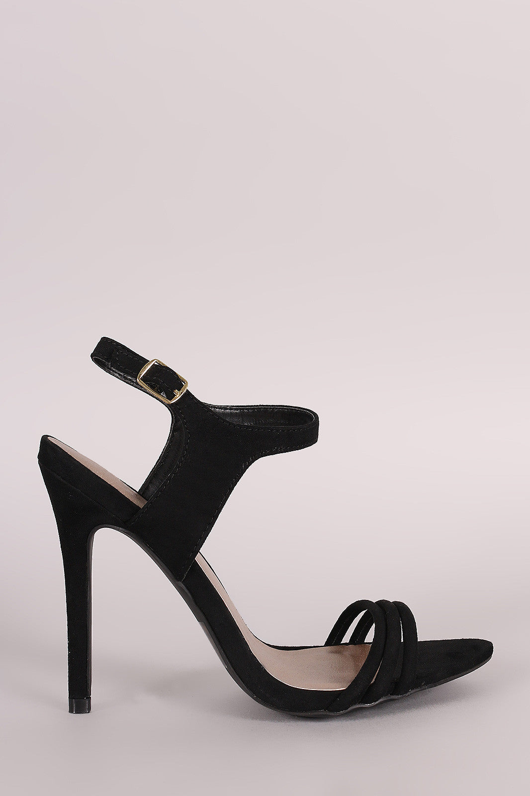 Qupid Suede Ankle Strap Sinlge Sole Heel - Thick 'N' Curvy Shop - 1
