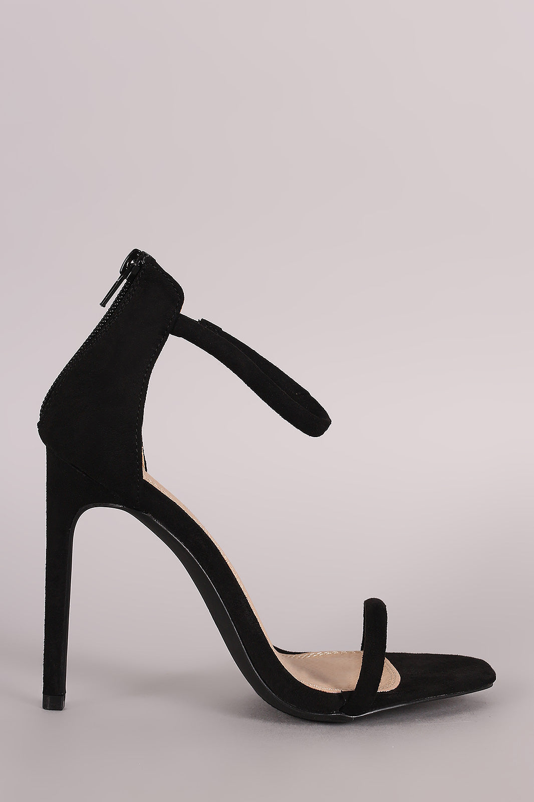 Liliana Suede Double Strap Open Toe Stiletto Heel - Thick 'N' Curvy Shop - 15