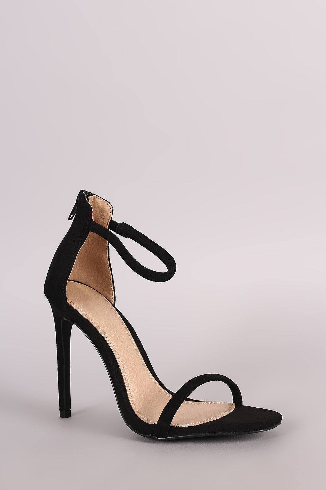 Liliana Suede Double Strap Open Toe Stiletto Heel - Thick 'N' Curvy Shop - 12