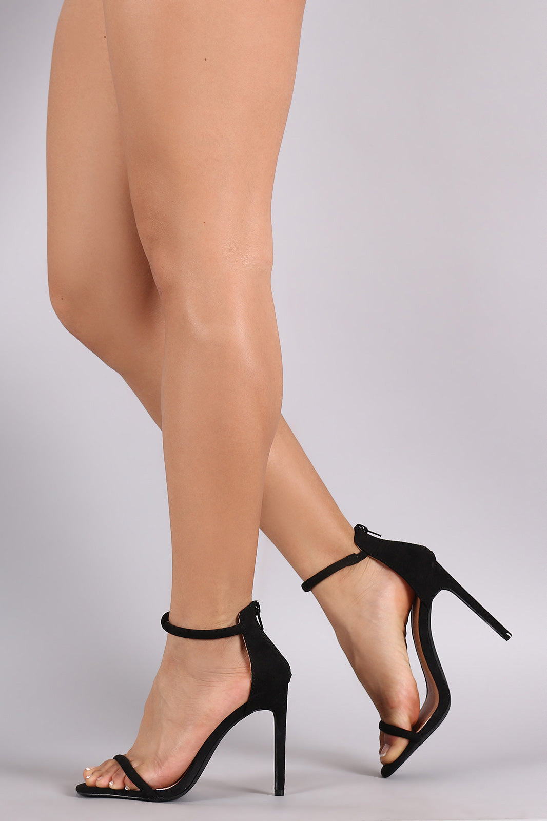 Liliana Suede Double Strap Open Toe Stiletto Heel - Thick 'N' Curvy Shop - 14