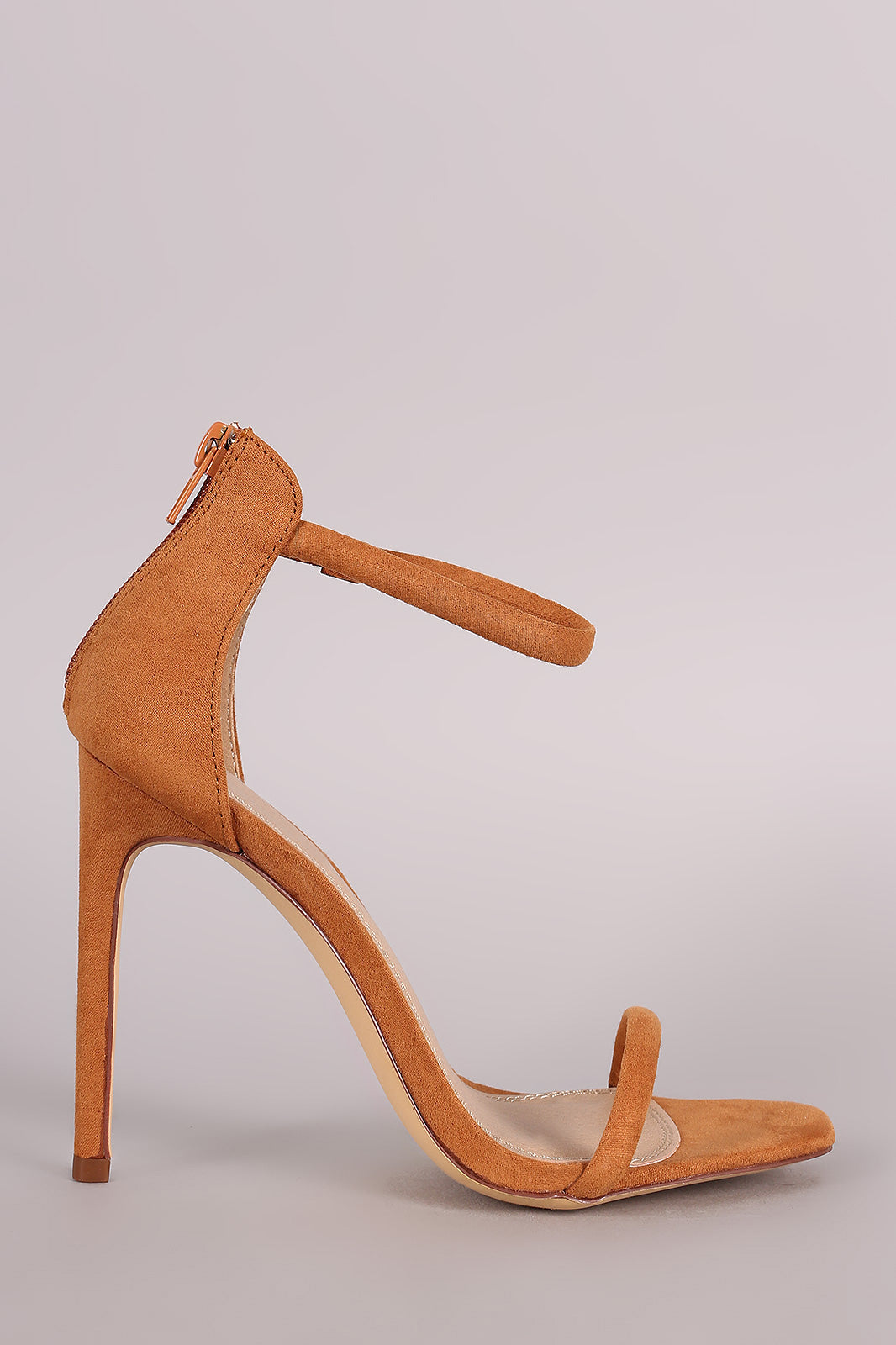 Liliana Suede Double Strap Open Toe Stiletto Heel - Thick 'N' Curvy Shop - 3