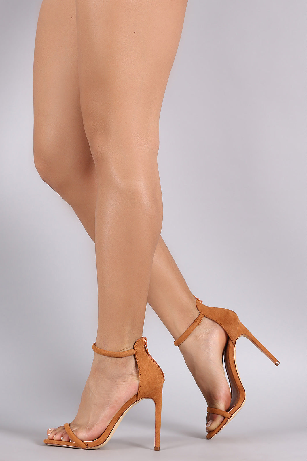 Liliana Suede Double Strap Open Toe Stiletto Heel - Thick 'N' Curvy Shop - 4