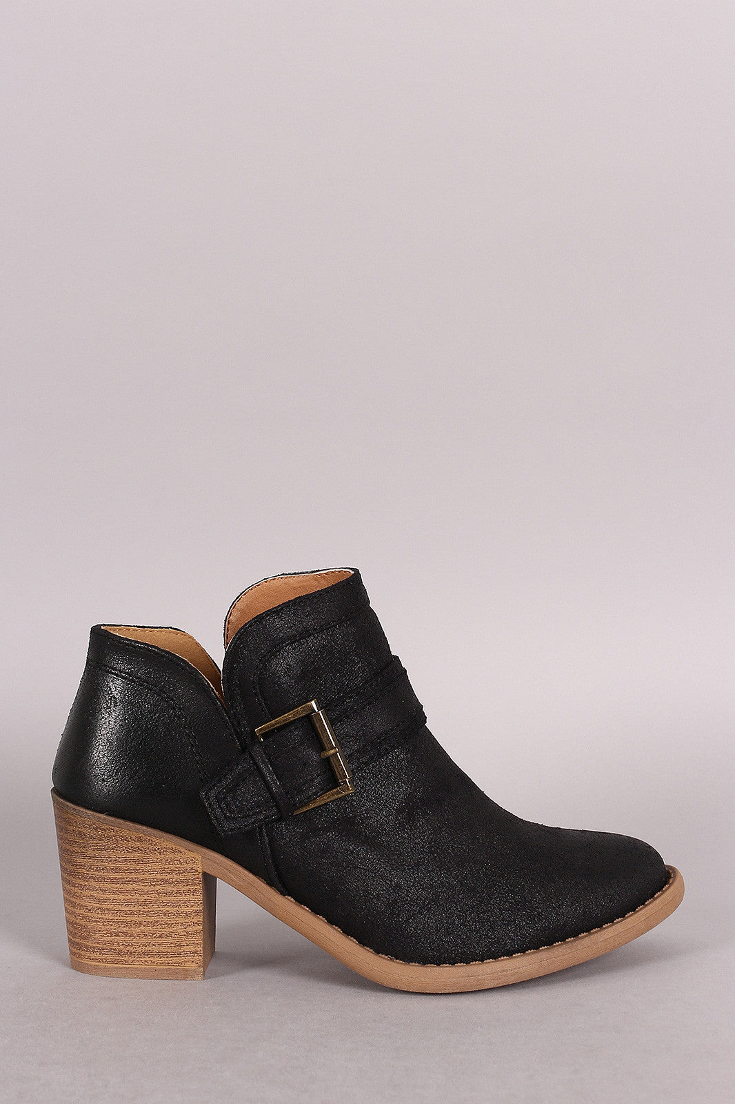 Qupid Buckled Cowgirl Chunky Heeled Booties - Thick 'N' Curvy Shop - 5