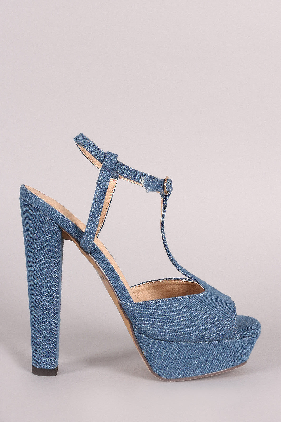 Liliana Ankle Wrap T-Strap Platform Chunky Heel - Thick 'N' Curvy Shop - 1