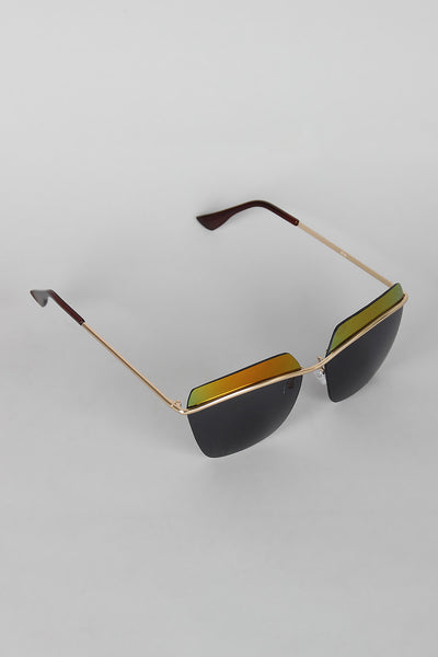 Two Tone Rimless Wide Sunglasses - Thick 'N' Curvy Shop - 1