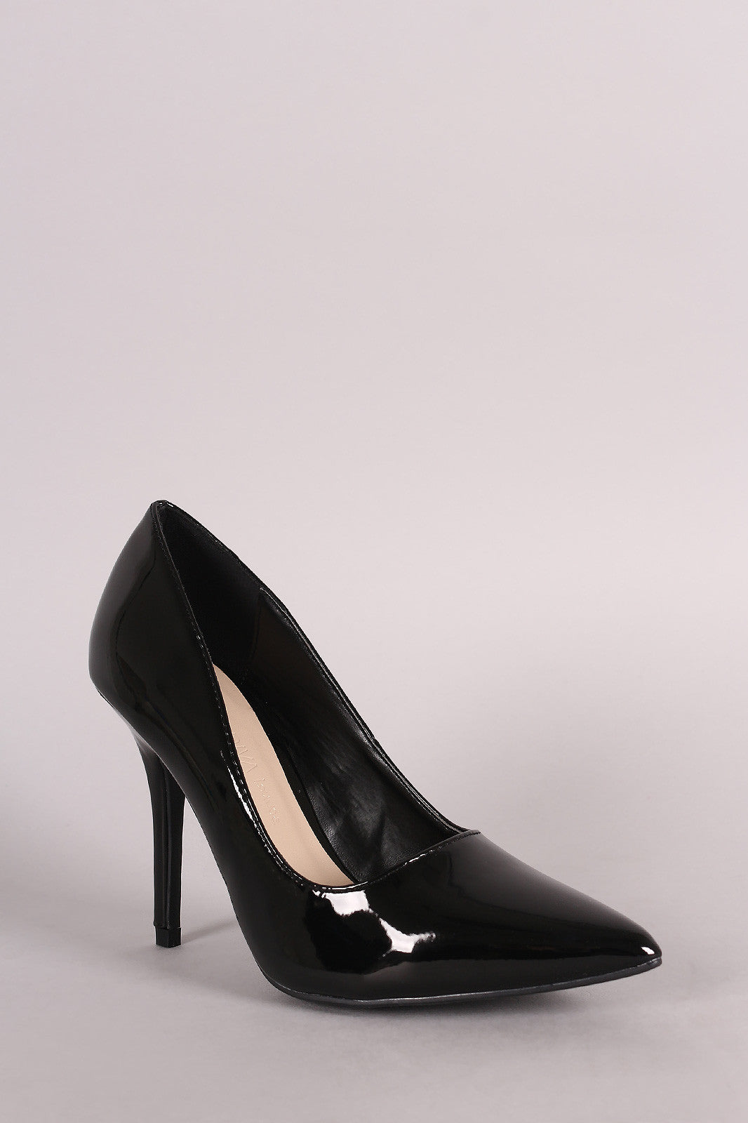 Wild Diva Lounge Patent Pointy Toe Stiletto Pump - Thick 'N' Curvy Shop - 2
