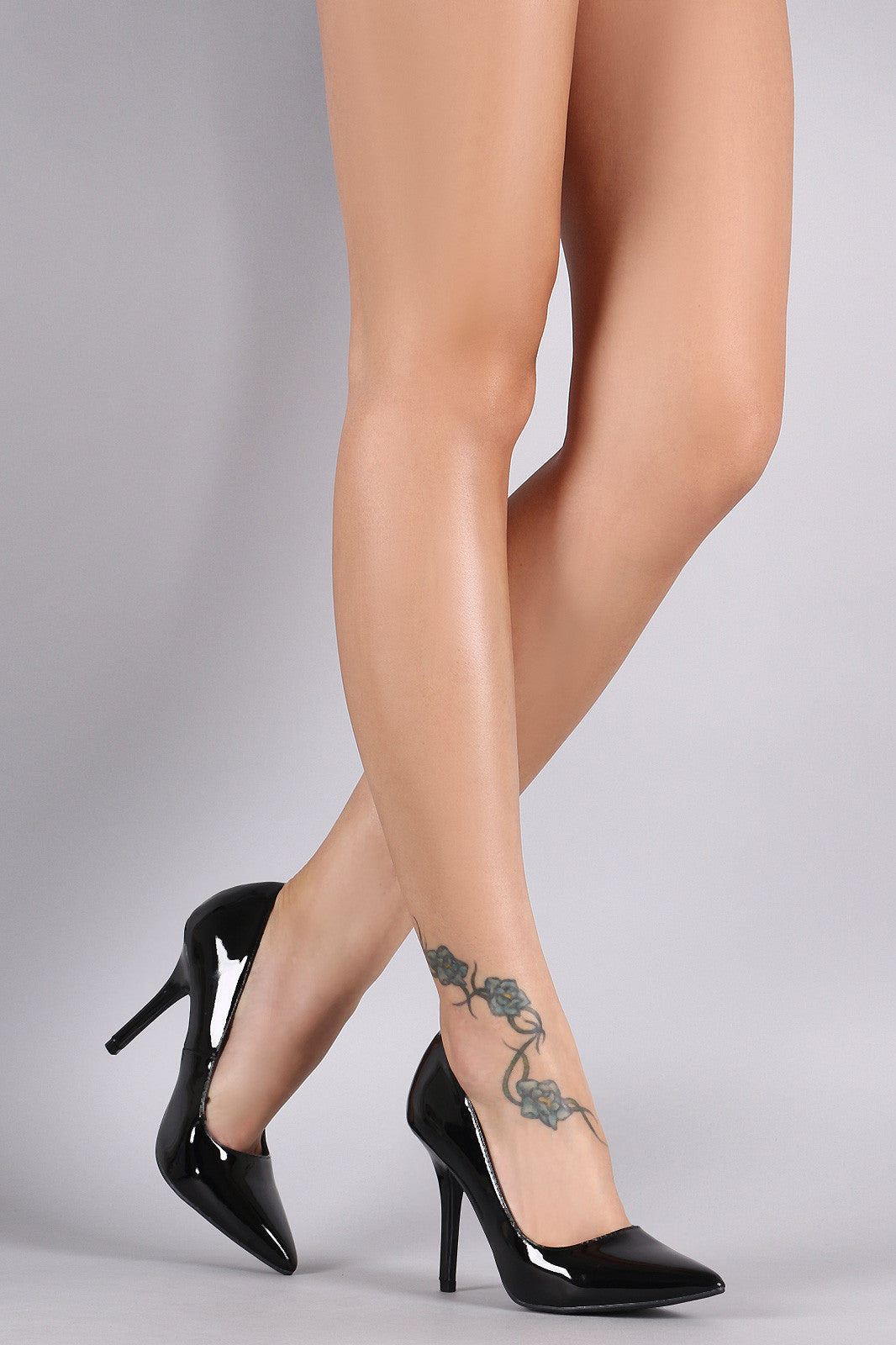 Wild Diva Lounge Patent Pointy Toe Stiletto Pump - Thick 'N' Curvy Shop - 3