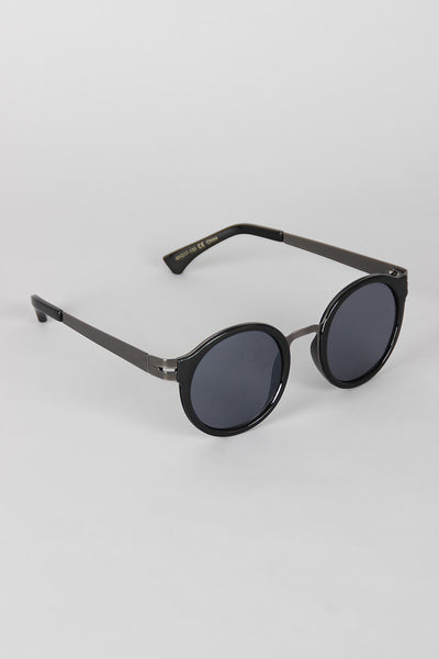 Retro Metal and Plastic Round Sunglasses - Thick 'N' Curvy Shop - 1