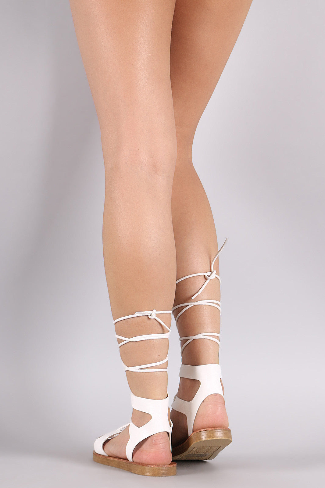 Breckelle Strappy Lace-Up Gladiator Flat Sandal - Thick 'N' Curvy Shop - 9
