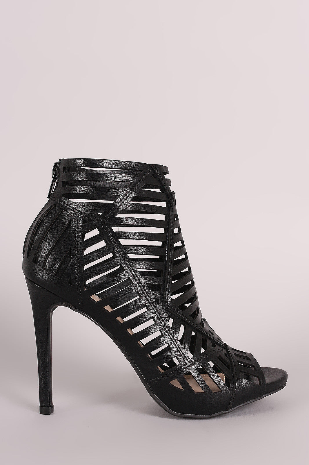 Anne Michelle Caged Peep Toe Stiletto Heel - Thick 'N' Curvy Shop - 1
