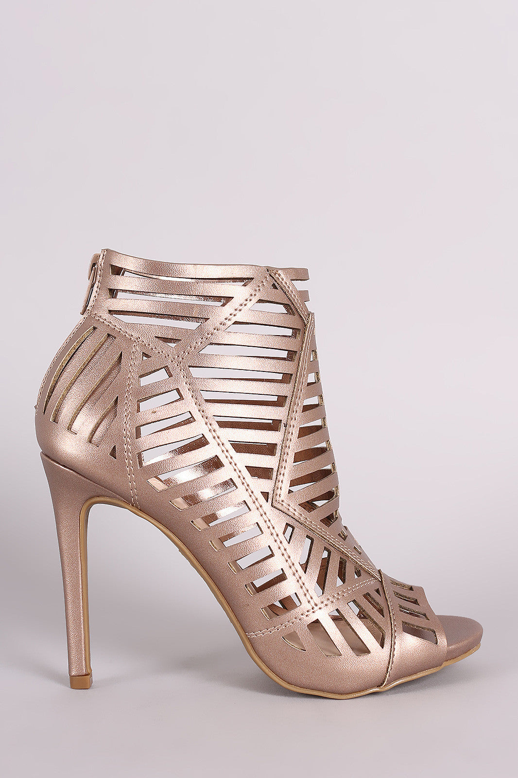 Anne Michelle Caged Peep Toe Stiletto Heel - Thick 'N' Curvy Shop - 2