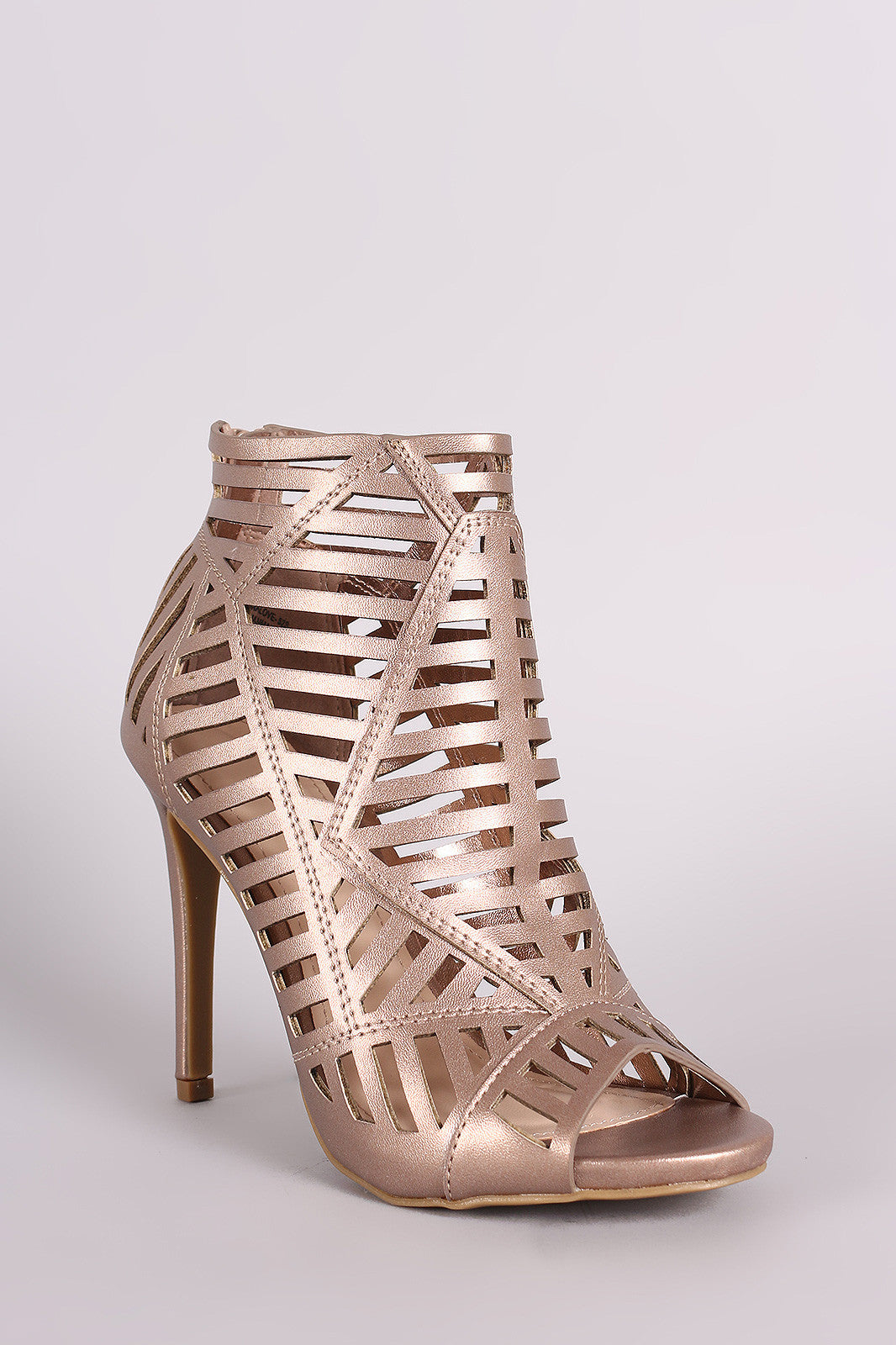 Anne Michelle Caged Peep Toe Stiletto Heel - Thick 'N' Curvy Shop - 5