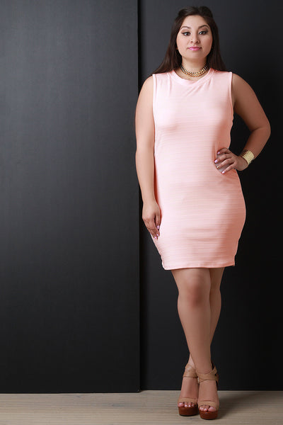 Back Cut Out Sleeveless Bodycon Dress - Thick 'N' Curvy Shop - 1