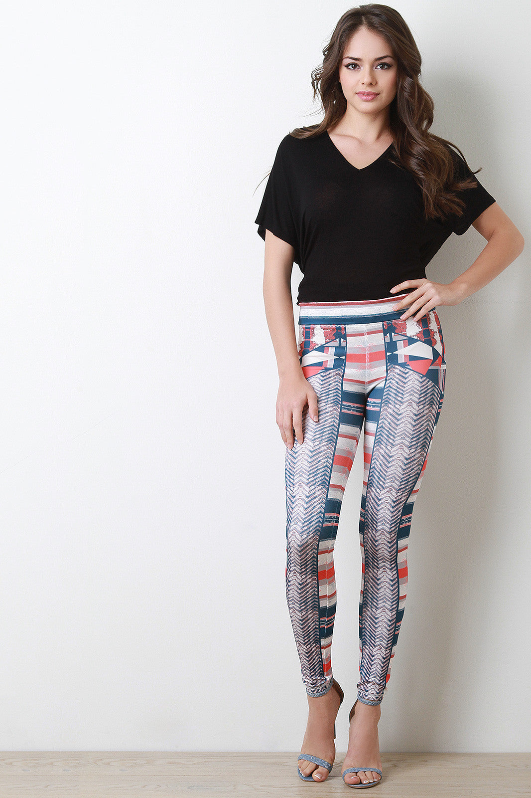 Geo Tribal Leggings - Thick 'N' Curvy Shop - 1