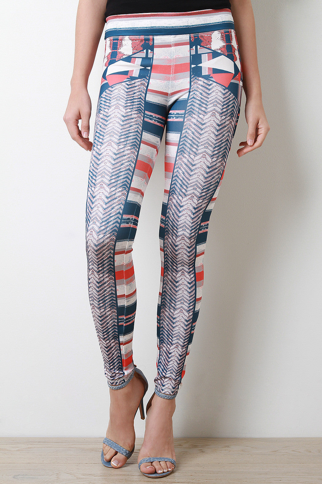 Geo Tribal Leggings - Thick 'N' Curvy Shop - 2