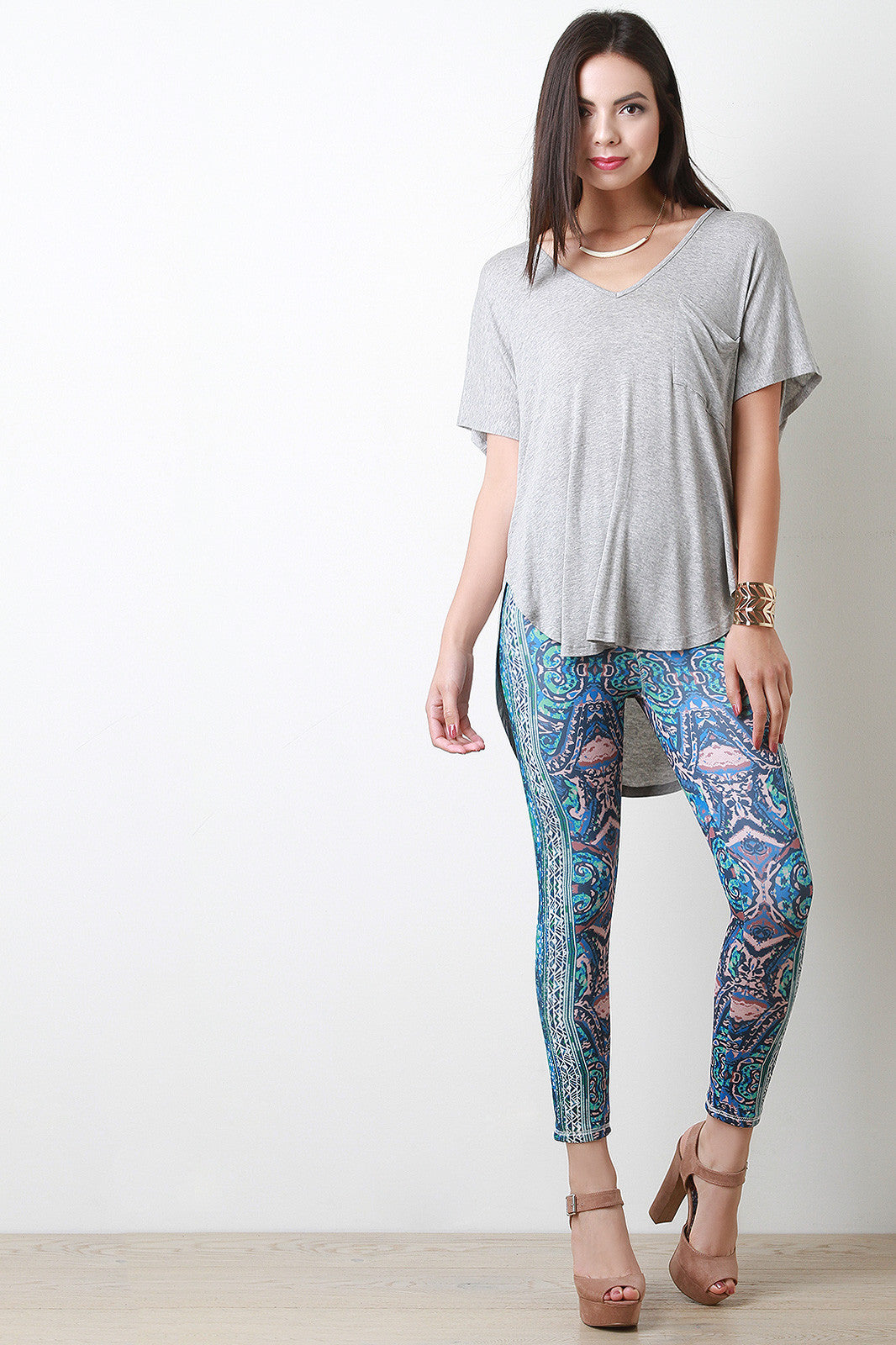 Shop Tribal Inkblot Leggings - Thick 'N' Curvy Shop - 1