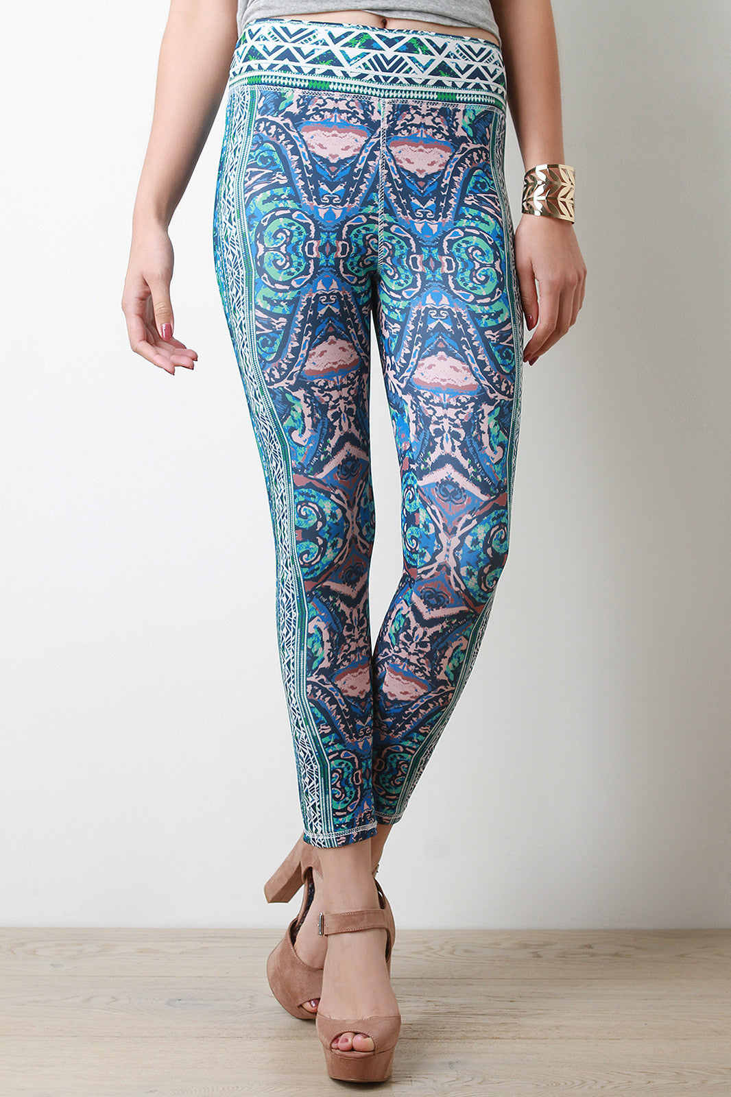 Shop Tribal Inkblot Leggings - Thick 'N' Curvy Shop - 2
