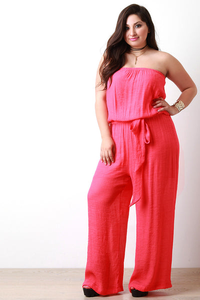 Breezy Strapless Wide Leg Jumpsuit - Thick 'N' Curvy Shop - 1