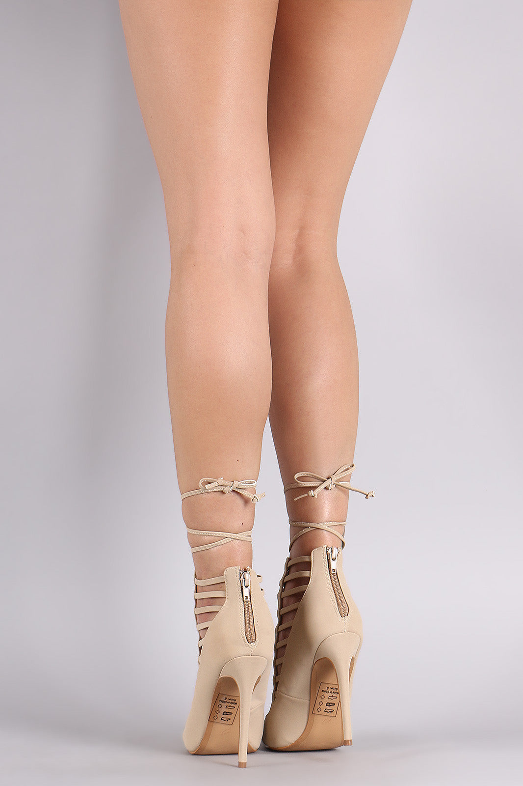 Shoe Republic LA Pointy Toe Caged Lace-Up Pump - Thick 'N' Curvy Shop - 5