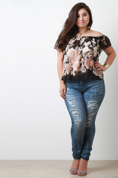 Distressed Skinny Jeans - Thick 'N' Curvy Shop - 1