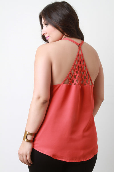 Caged Triangle Back Sleeveless Top - Thick 'N' Curvy Shop - 1