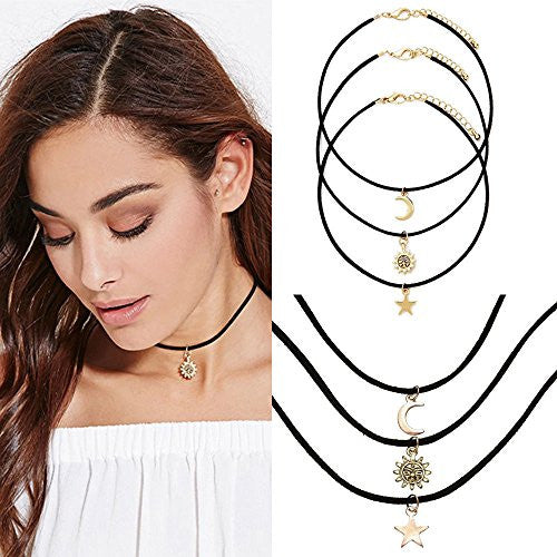 Star, Moon, and Sun Choker Set - Thick 'N' Curvy Shop - 2