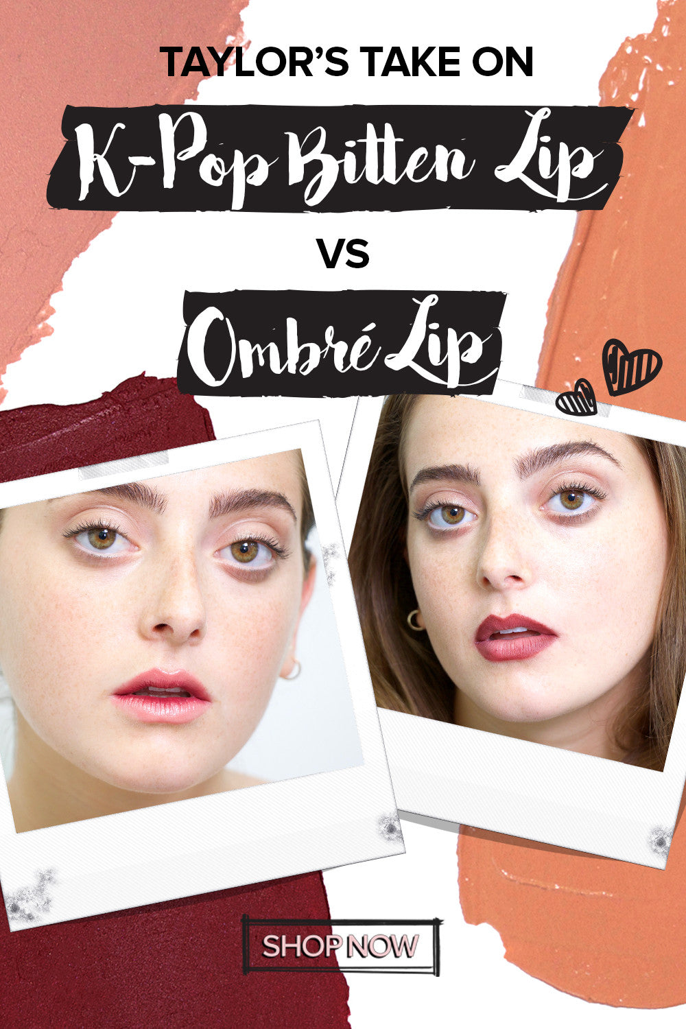 K-Pop Bitten Lip VS Ombré Lip