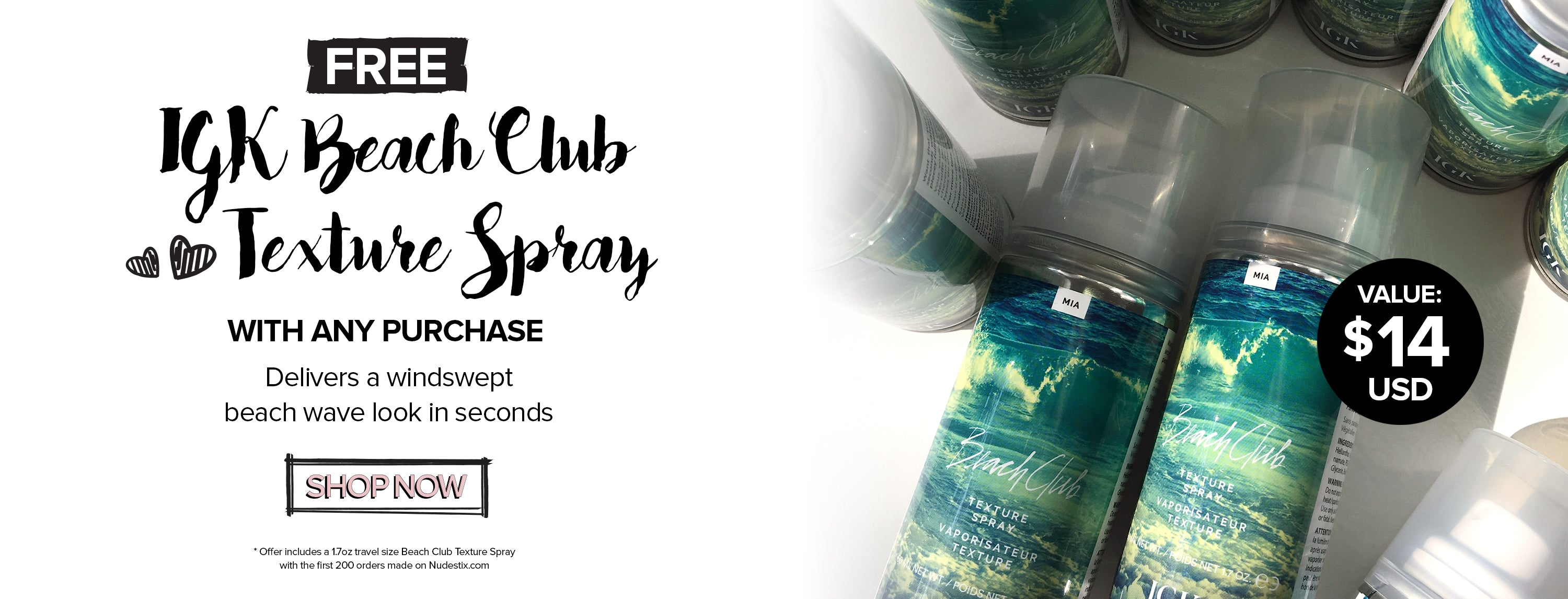 FREE: Mini IGK Beach Club Texture Spray