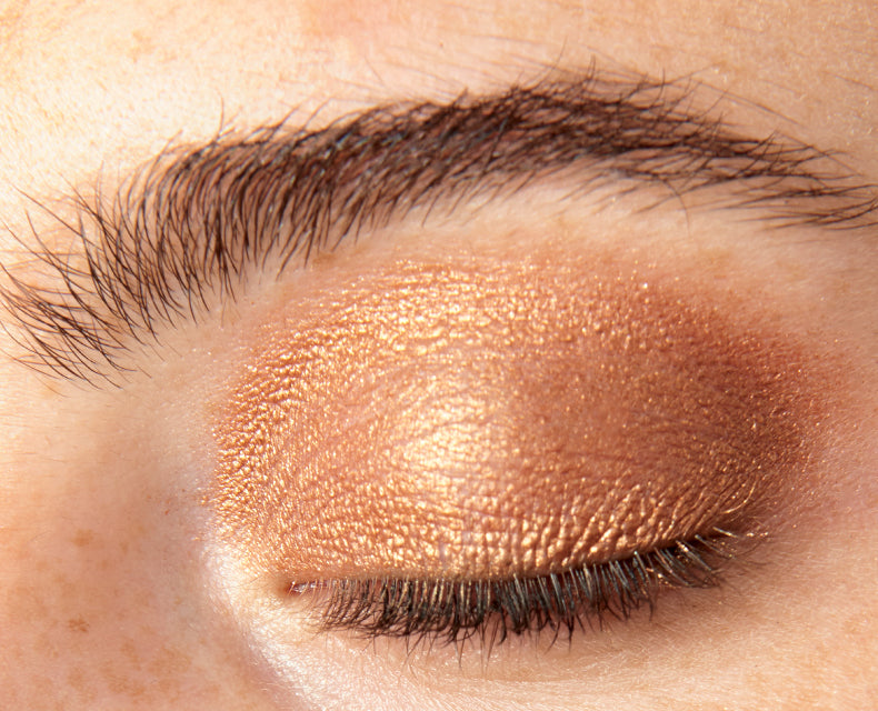 Nudestix Magnetic Luminous Eye Color in Copper Foil swatch