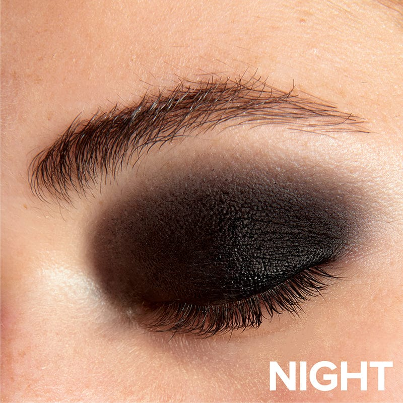 Night, Person wearing Nudestix Magnetic Matte Eye Color in Night