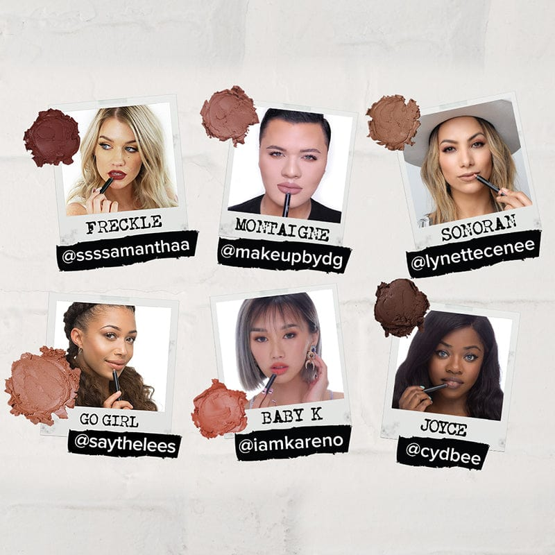 Social media influencers using Nudestix Creator's Palette makeup products
