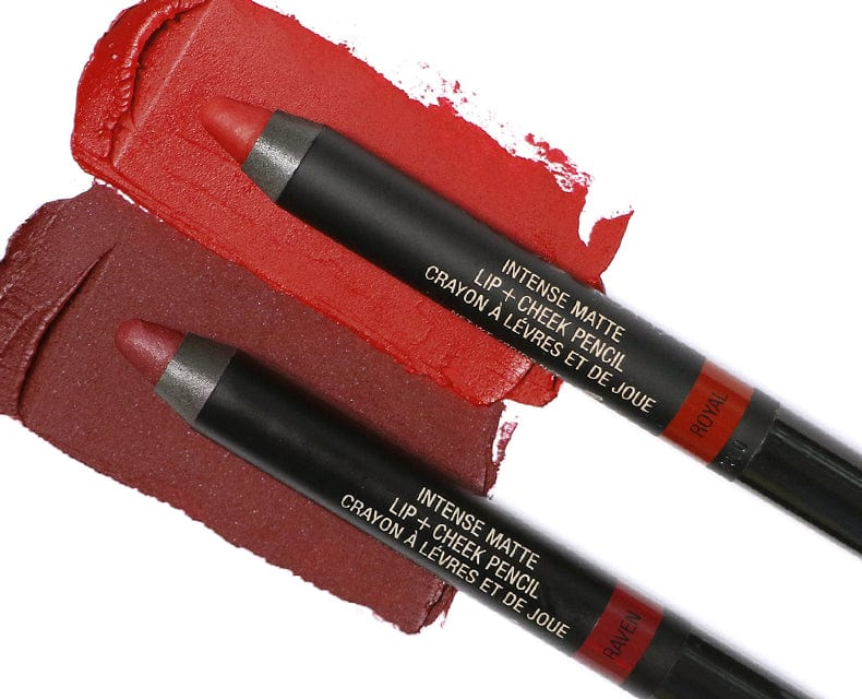 #GOBOLD INTENSE MATTE LIP + CHEEK PENCIL SET // RAVEN + ROYAL