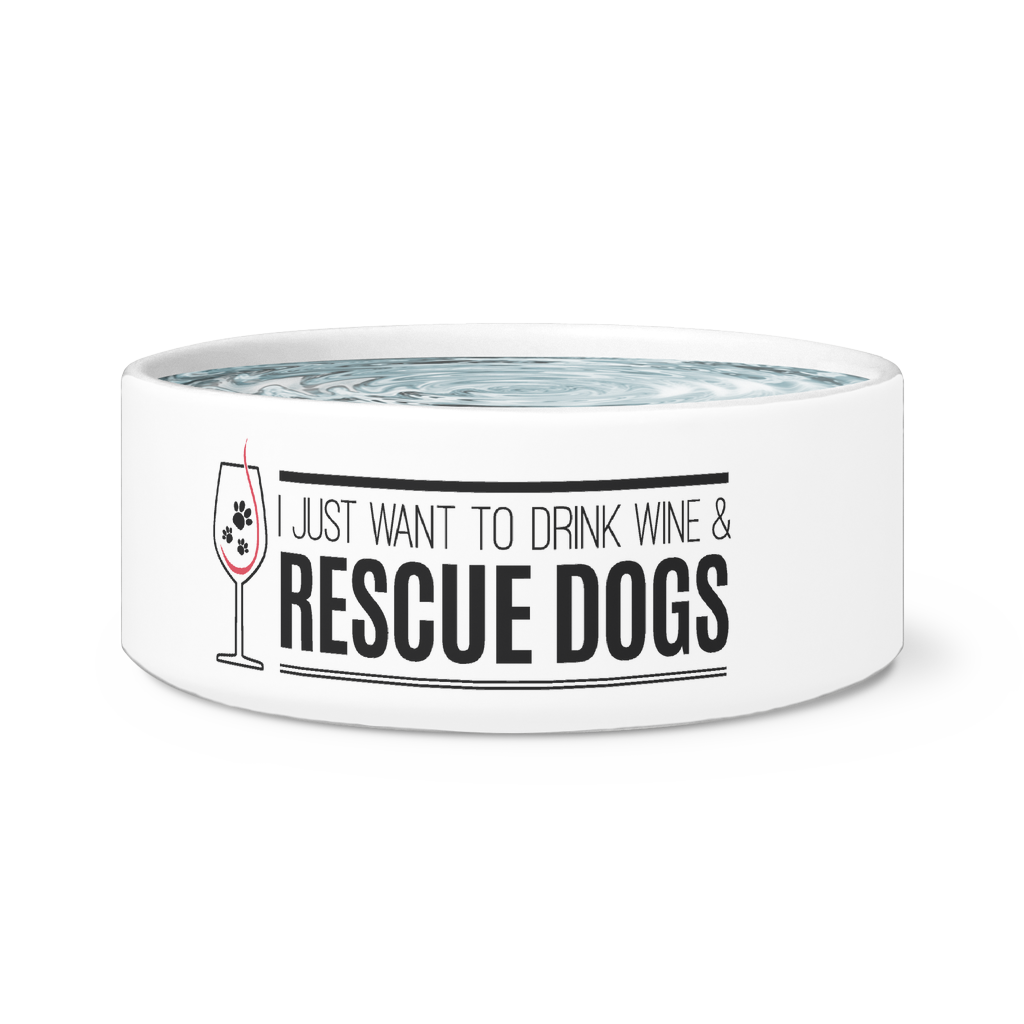 Rescue Dogs and Drink Wine Bowl