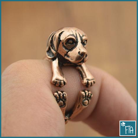 Beagle Dog Adjustable Wrap Ring