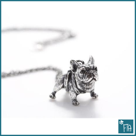 Antique French Bulldog Necklace