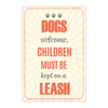 Image of Dogs Welcome Poster