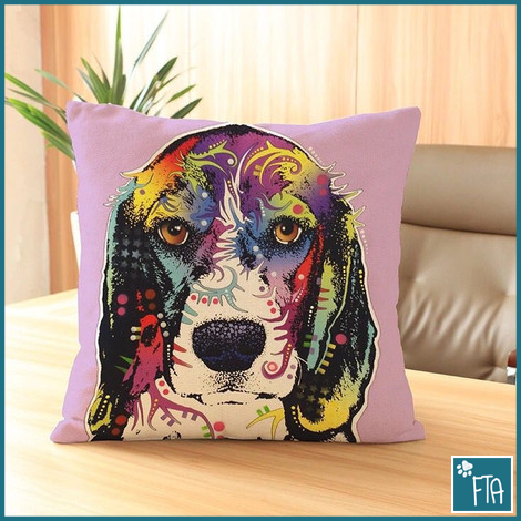 Beagle Dog Graphic Art Throw Pillow Case