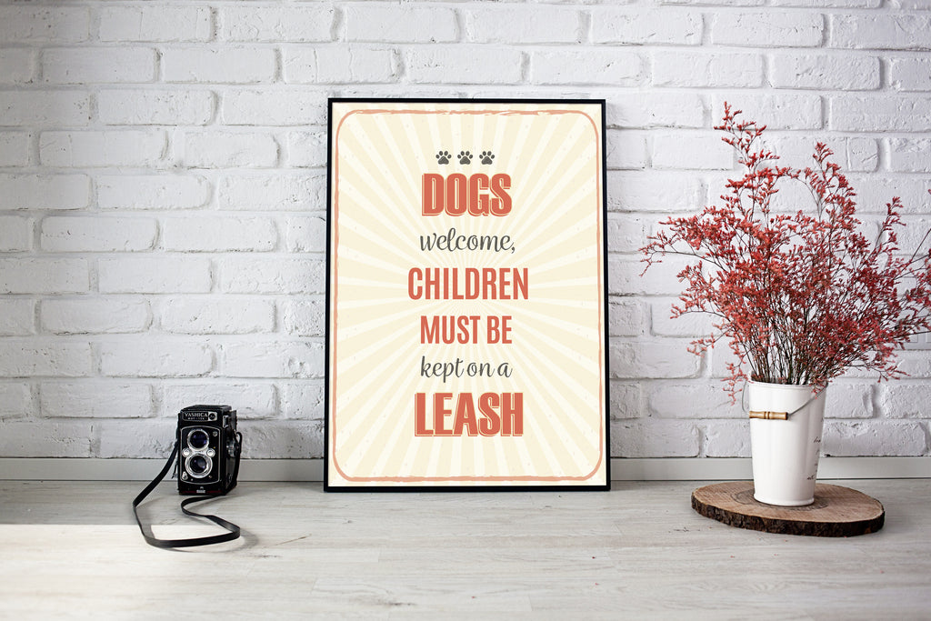 Dogs Welcome Poster
