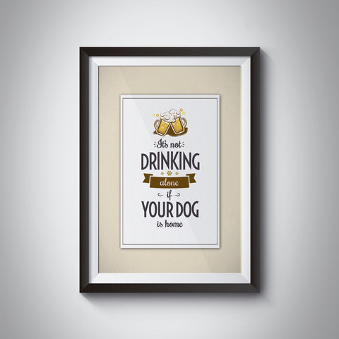 Drinking Alone Poster